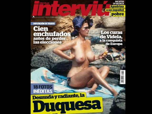 La Duquesa De Alba Desnuda Hace 30 Años En La Portada De Interviú