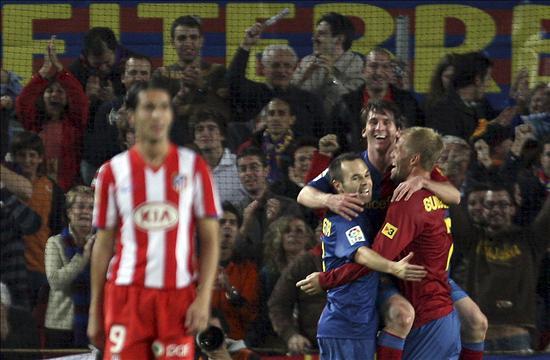 """Resultat d'imatges per a """"el barça gana al atletico before:2009"""""""