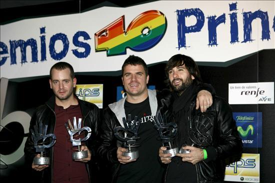 Resultado de imagen de premios 40 principales 2008 canto del loco