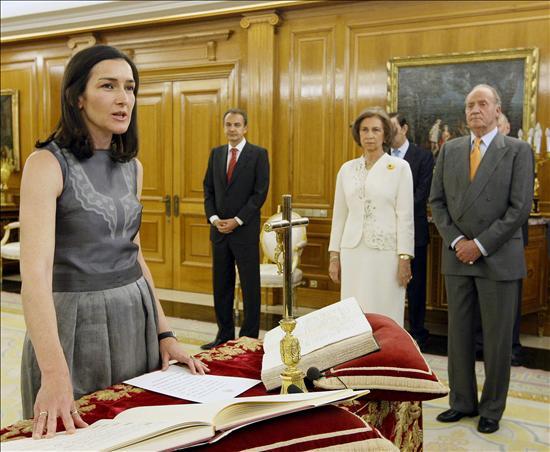 Toma de posesión de la ministra de Cultura, Angelita Sindescargas
