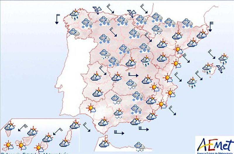 Precipitaciones dbiles maana en Madrid  EcoDiarioes