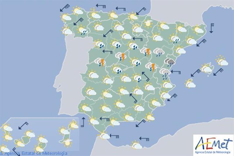 Mañana, lluvia en centro peninsular y bajada temperaturas en casi toda  España - EcoDiario.es