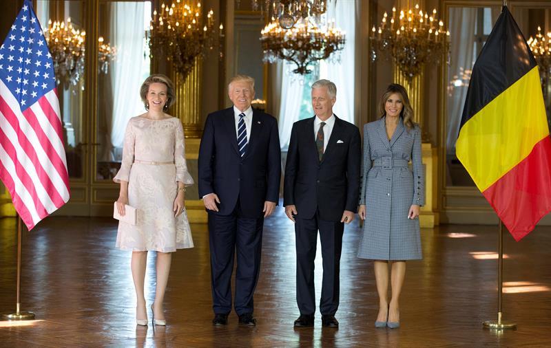 Resultado de imagen para Trump llega a Bruselas para cumbre de la OTAN