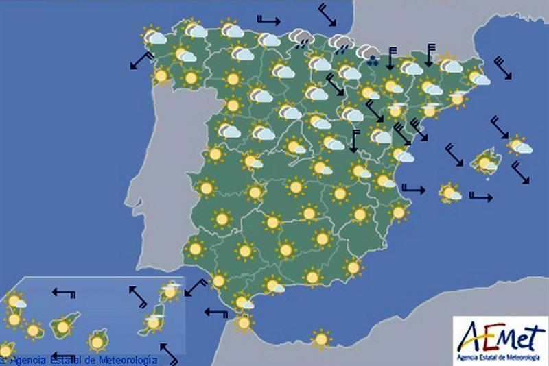 Domingo con heladas en el interior y viento fuerte en Tarragona y Castellón